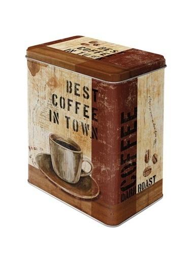 Best Coffee in Town Saklama Kutusu-Nostalgic Art